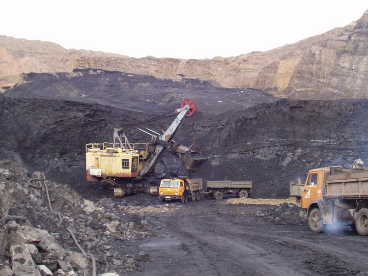 Opencast coal mine in Russia, one of the main countries from which the UK imports coal