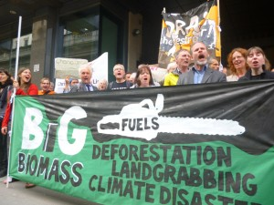 Protest outside Drax AGM